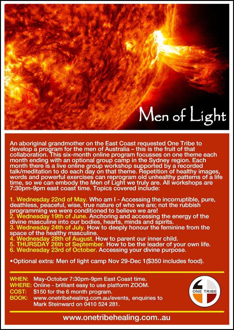 Men of light poster